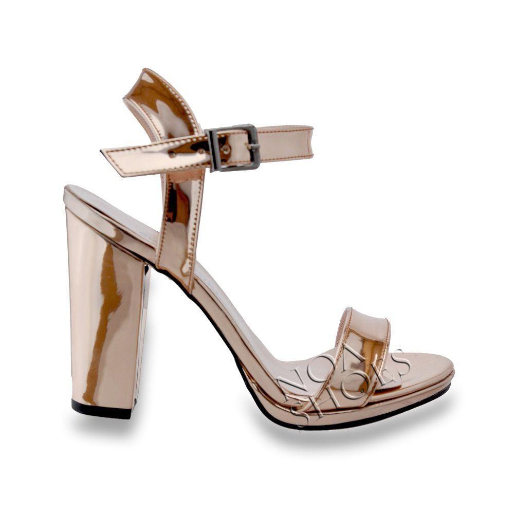 Bronz Stiletto Topuklu Ayakkabı Kadın Açık Abiye Bakır Pump Noa