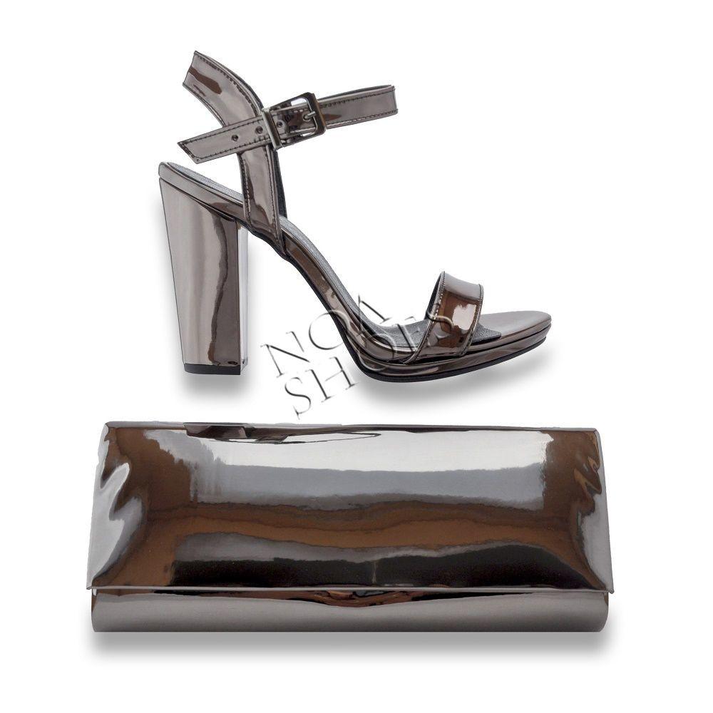 5778d436e144f Yazlık Stiletto Açık Kadın Ayakkabı Abiye Platin Çanta Hediyeli ...